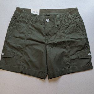 Womens STYLE & CO Olive Sprig Shorts NWT Size 10P